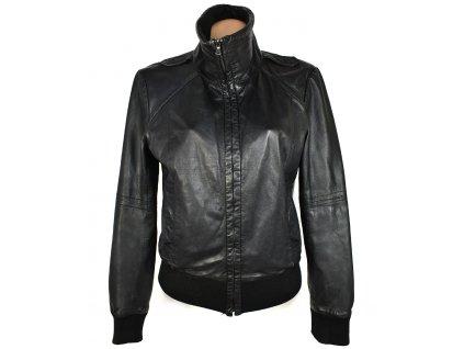 KOŽENÁ dámská černá měkká bunda na zip Jake*S 42