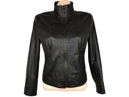 KOŽENÁ dámská černá měkká bunda S/M
