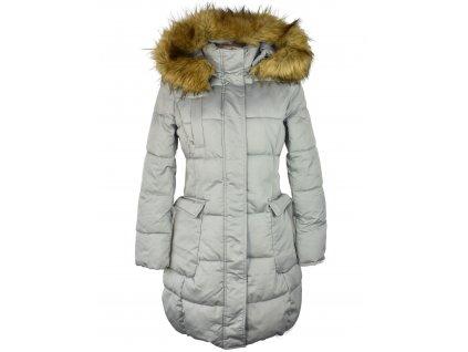 Dámský zelený prošívaný zimní kabát s kapucí Glo Story L