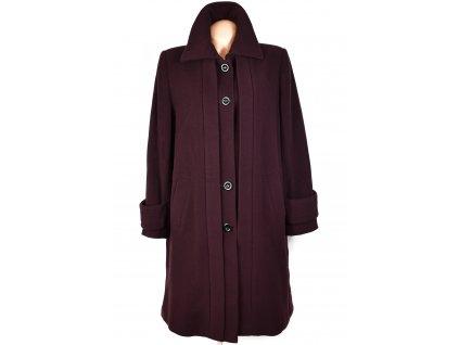 Vlněný (70%) dámský fialový dlouhý kabát Erich Fend 44