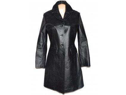 KOŽENÝ dámský černý měkký kabát CALYPSO