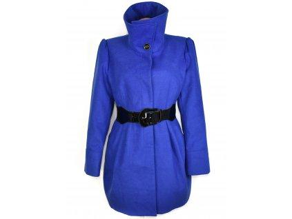 Dámský modrý kabát s páskem F&F XXXL