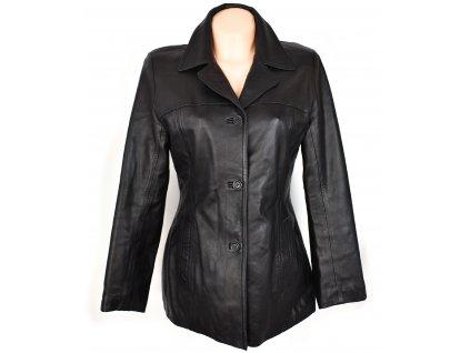 KOŽENÝ dámský černý měkký kabát Destiny London M