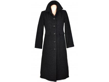 Vlněný dámský šedočerný dlouhý kabát Jacqueline de Young L