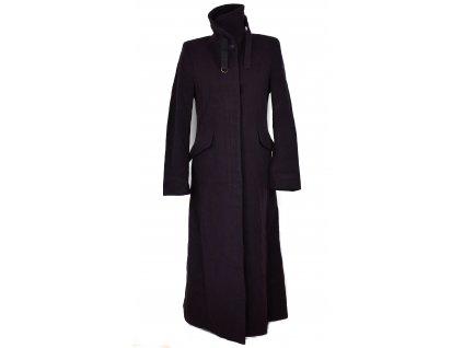 Vlněný (75%) dámský dlouhý fialový kabát Ennia Morri (vlna, kašmír) 42