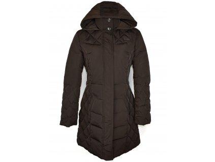 Dámský hnědý prošívaný kabát s kapucí Tom Tailor XL