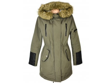 Dámská khaki zelená zateplená parka s kapucí AMISU 40