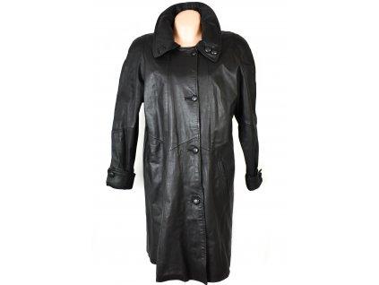 KOŽENÝ dámský černý kabát s odnimatelnou vložkou XXL