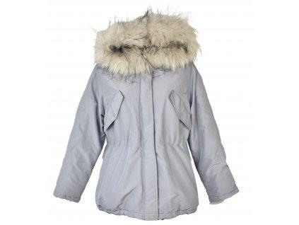 Dámská šedá zimní parka s kapucí H&M L