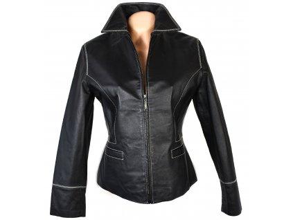 KOŽENÁ dámská černá měkká bunda na zip CERO M