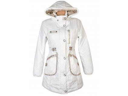 Dámský smetanový prošívaný kabát s kapucí AMISU 38