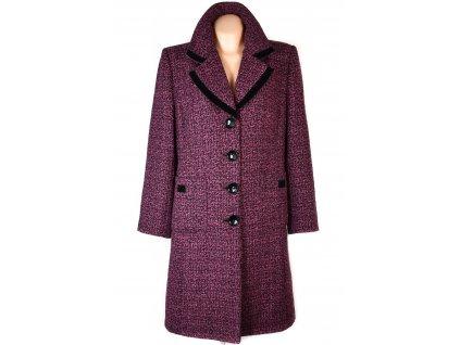Vlněný dámský černorůžový kabát XL