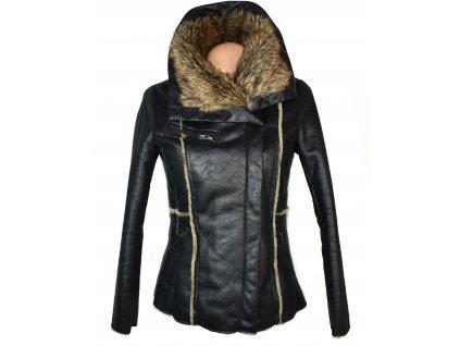 Dámská černá bunda s kožíškem Reserved 36