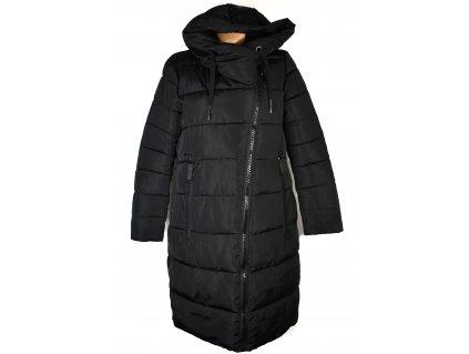 Dámský černý prošívaný kabát Fly Luxury XXL