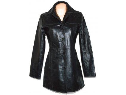 KOŽENÝ dámský černý kabát CALYPSO 38