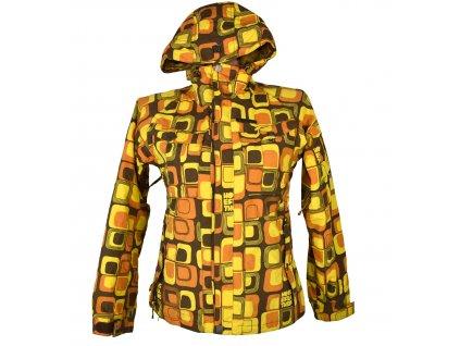 Lyžařská dámská hořčicová bunda s kapucí HORSEFEATHERS XS