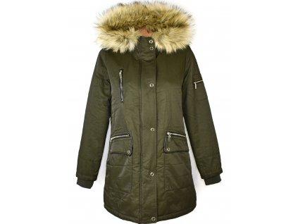 Dámská zimní khaki parka s kapucí F&F 12/40