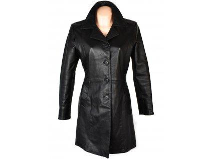 KOŽENÝ dámský černý měkký kabát Firenze M