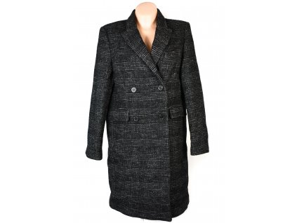 Dámský dlouhý černobílý kabát XL