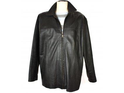KOŽENÁ pánská čerrná měkká bunda na zip L/XL
