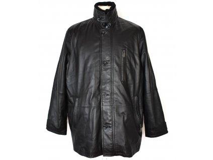 KOŽENÁ pánská černá měkká bunda s odnimatelnou vložkou BLAŽEK XL