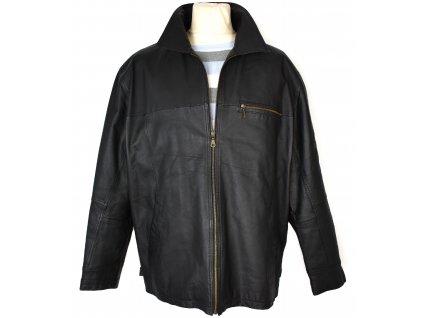 KOŽENÁ pánská černá měkká bunda na zip EXPLORER XL