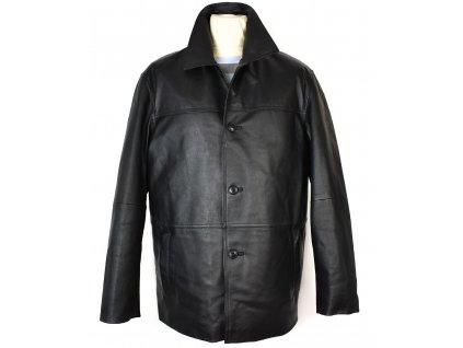 KOŽENÁ pánská měkká černá bunda Different 60