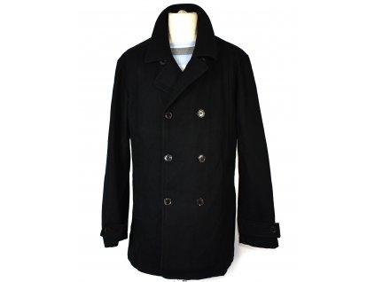 Vlněný (90%) pánský černý kabát Superior High Class XL