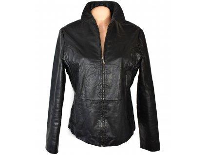 KOŽENÁ dámská černá měkká bunda na zip AMARANTO XL