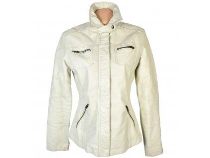 KOŽENÁ dámská smetanová měkká bunda na zip KARA M