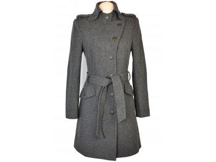 Vlněný dámský šedý kabát s páskem ESPRIT S/M