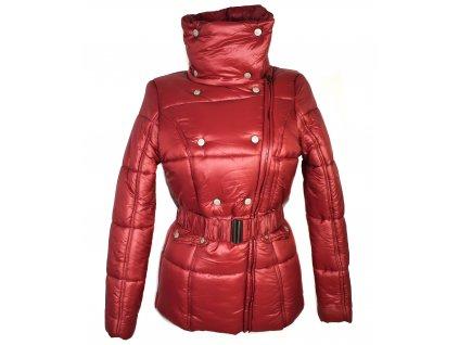 Dámský zimní prošívaný vínový kabát s páskem Cherokee M/12 - s cedulkou