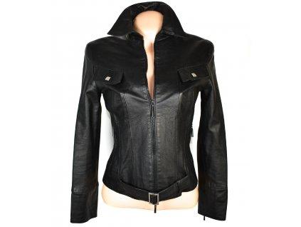 KOŽENÁ dámská černá měkká bunda na zip Strnad&Červinka XS/S