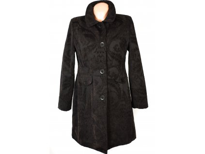 Bavlněný dámský hnědý vzorovaný kabát YESSICA L