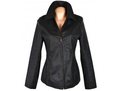 KOŽENÁ dámská černá bunda na zip Update S, M