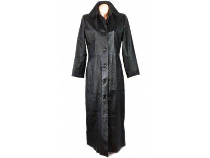 KOŽENÝ dámský černý dlouhý měkký kabát Thomas&Daniels 42