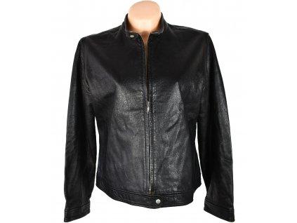 KOŽENÁ dámská černá měkká bunda na zip XL