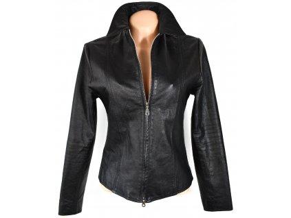KOŽENÁ dámská černá měkká bunda Mad People S/M