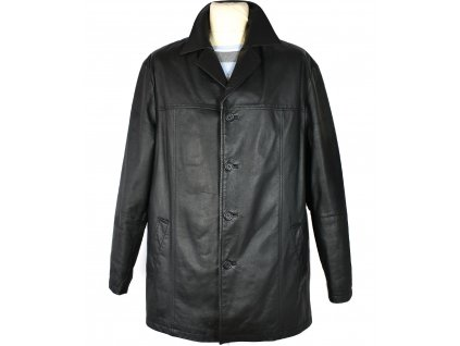 KOŽENÁ pánská černá měkká zateplená bunda MORENA 52 2