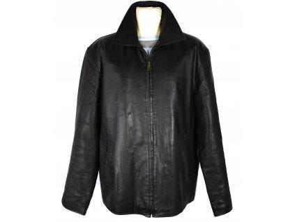 KOŽENÁ pánská černá měkká bunda na zip Skormex XXL