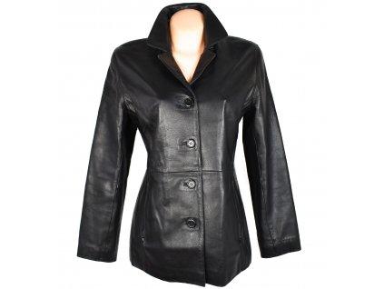 KOŽENÝ dámský černý měkký kabát Kara L