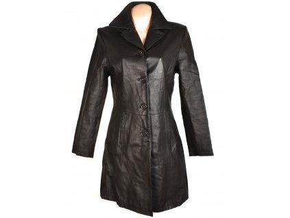 KOŽENÝ dámský hnědý kabát CERO S, M