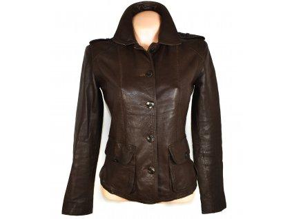 KOŽENÁ dámská hnědá měkká bunda na zip Oakwood S