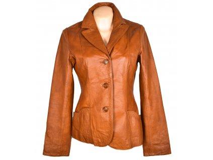 KOŽENÉ dámské koňakové měkké sako H&M M