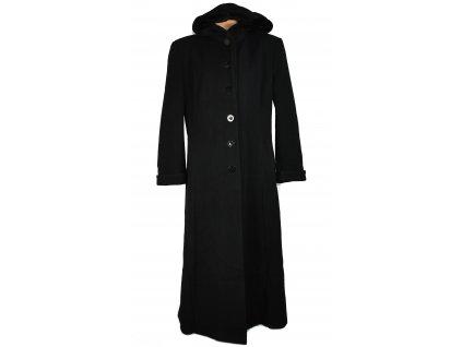 Vlněný (70%) dámský dlouhý černý kabát (vlna, kašmír) 42