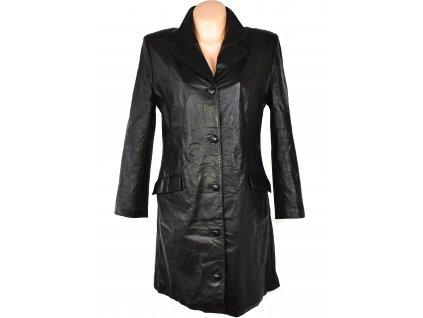 KOŽENÝ dámský černý měkký kabát S/M