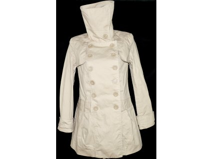 Bavlněný dámský béžový kabát NEW LOOK 14/42