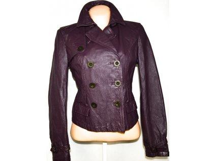 KOŽENÝ dámský fialový kabátek LAIME L