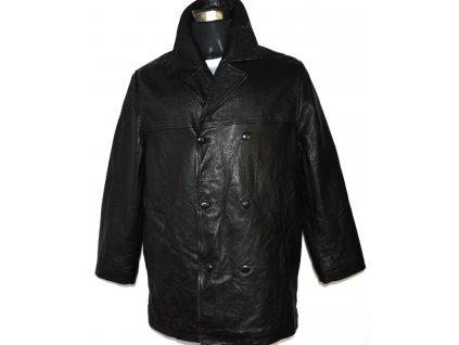 KOŽENÝ pánský černý měkký kabát Saint Anthony L