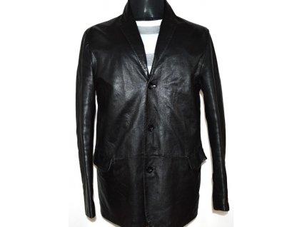 KOŽENÉ pánské měkké černé sako RIVER ISLAND M
